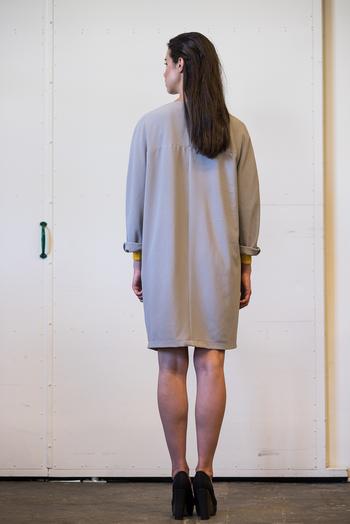 Georgette kappa grå