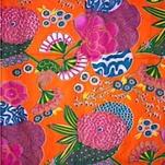 INDIEN Blomma orange/mixfärg