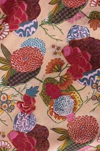 INDIEN Blomma beige/mixfärg